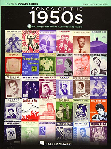 Songs of the 1950s: The New Decade Series with Online Play-Along Backing Tracks (Best Walking Bass Lines)