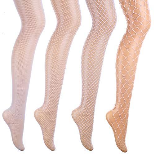 akiido High Waist Tights Fishnet Stockings Thigh High Stockings -