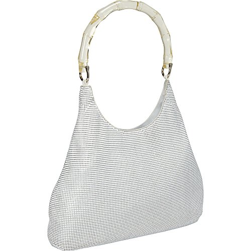 Davis Handle White Whiting Hobo Lucite and Bamboo PwRn564nq