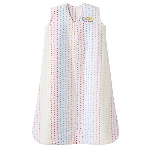 Halo Sleepsack Micro-Fleece Wearable Blanket, Multi Dots, Medium