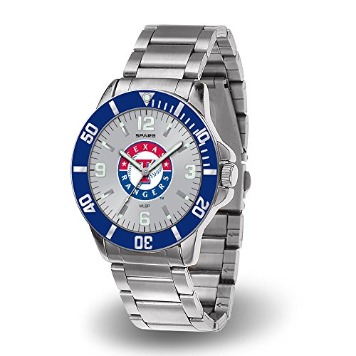 Rico (DEAD) Texas Rangers Key Watch with Stainless Steel (Texas Rangers Watch)