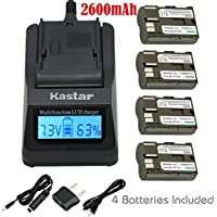 Kastar Fast Charger and Battery (4-Pack) for Canon BP-511, BP-511A, BP511, BP511A and EOS 5D, 10D, 20D, 30D, 40D, 50D, Digital Rebel 1D, D60, 300D, D30, Kiss Powershot G5, Pro 1, G2, G3, G6, G1, Pro90