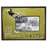 Soccer 4 x 6 Wooden Photo Frame - Philippians 4:13