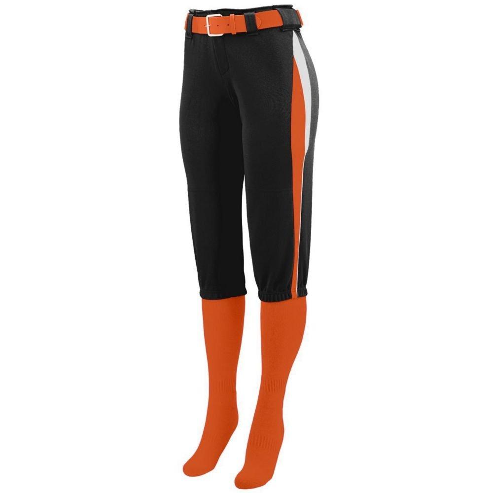 Augusta Activewear Girls Comet Pant, Black/Orange/White, Large