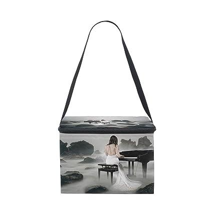 49e4661d9b22 Amazon.com: D.Sword Women Play Piano Lunch Bags for Women Men Kids ...