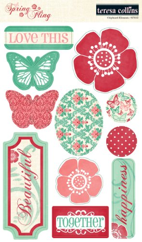 ns Spring Fling Chipboard Elements ()