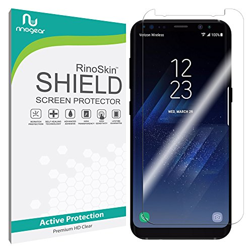 Price comparison product image Galaxy S8+ Plus Screen Protector (Edge-to-Edge) [Active-Grade] RinoGear Premium HD Invisible Clear Shield Anti-Bubble