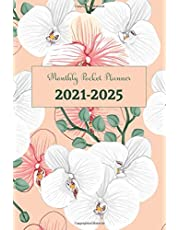 2021-2025 Monthly Pocket Planner: 5 Years Appointment Pocket Notebook, 60 Months Planner Monthly Yearly Calendar, Agenda Schedule Organizer Journal Full Holidays (Lovely Floral)