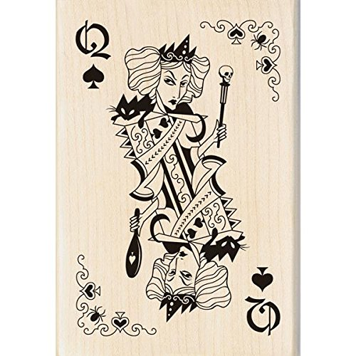 Inkadinkado Wood Stamp, Witch Queen Playing Card
