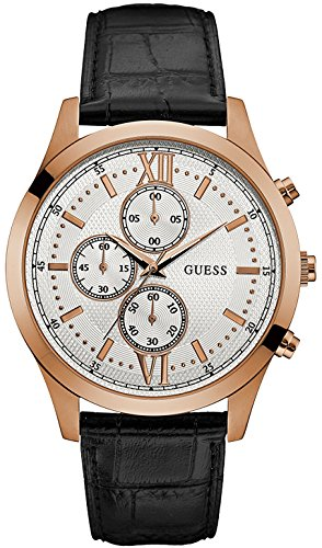 Watch Guess White Leather Man Hudson W0876G2 Chronograph