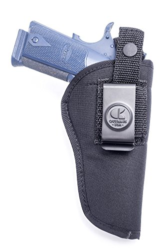 Outbags OB-04L (RIGHT) Nylon IWB Conceal & OWB Open Combo Carry Gun Holster for Taurus PT1911, Remington R1, Rock Island 1911, Ruger SR1911, Colt Govt, Colt 1911 .45 / Gold Cup, Kimber HD 1911, HI-Point JHP, and Most 5