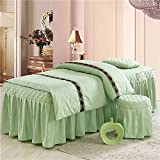 Massage Table Sheet Sets, Pure Color, 4 Pieces, Bedspread with...