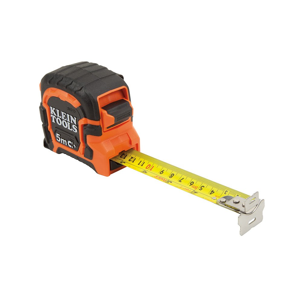 Tape Measure, 5-Meter Double Hook Magnetic with Finger Brake, Includes Both Feet and Meters Klein Tools 86315 by Klein Tools (Image #1)