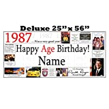 1987 DELUXE PERSONALIZED BANNER by Partypro