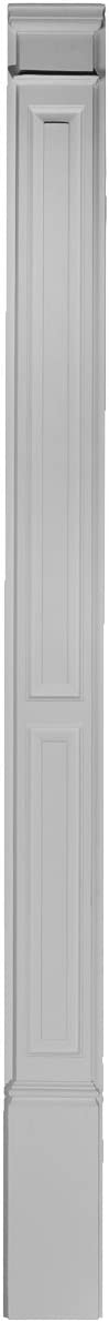 Ekena Millwork PIL07X90X02DP 7-Inch W x 87-Inch H x 2 3/8-Inch P Double Raised Panel Trimmable by 12-Inch: Home Improvement