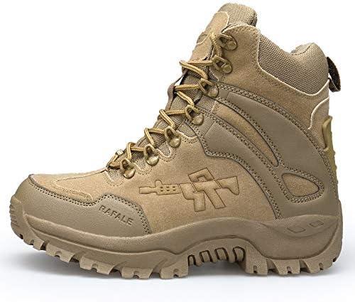 Tactical Stiefel Herren-Seiten-Reißverschluss Commando Stiefel Bergschuhe Outdoor-Leichte Side-Zip Frühling und Herbst Erwachsene Forces Stiefel