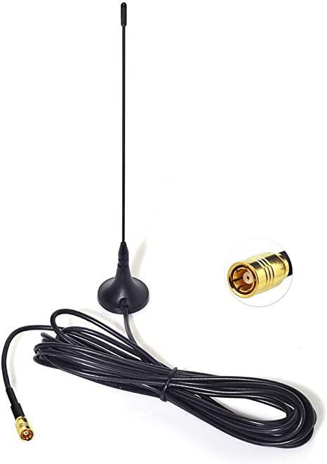 DAB Car Digital Antenna DAB Aerial SMA Male Magnet with Extension Cable 5M