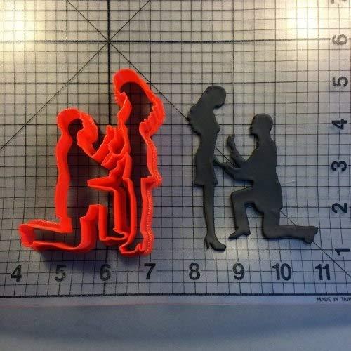 Zoomy Far: LUC Hochzeit Braut Vorschlag Fondant-Kuchen-Top nach Maß 3D Printed Ausstechformenset Kuchen, der Werkzeuge Backformen: Vorschlag 3 Zoll