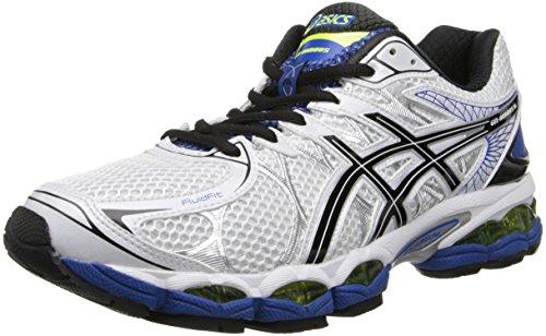 ASICS Men's Gel-Nimbus 16 2E Running Shoe,White/Black/Royal,9 2E US