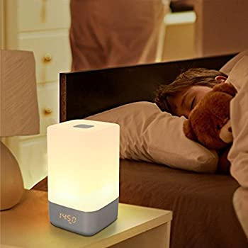 Superior Wake Up Light Alarm Clock Light, Therapy Lamps With Sunrise Simulation And  5 Natural Sounds,LED USB Bedside Lamp,Rechargeable,Touch Sensor Night Light  With ...