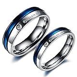 El nuevo anillo de titanio boda anillo amantes de la joyería anillo de color blanco y azul diamante anillo de compromiso gj192, Men, 8