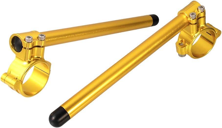 3 Coloris Guidon Moto Clip 55mm Tubes en Aluminium CNC D/étachables de 7//8 pouces pour S1000RR 2010-2018 pour V-Rod Noir
