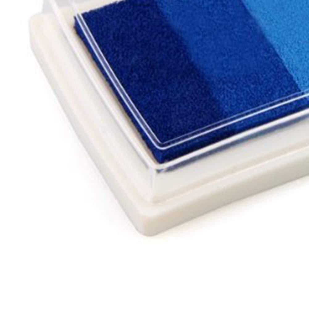 Basteln Seal Farbverlauf blauTragbares kreatives Stempelkissen f/ür Partner