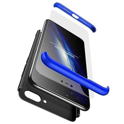 Bigcousin Funda para Xiaomi Mi 8 Lite, Funda 360 Grados Protección Ultra Slim Cubierta PC Hard Case + Cristal Templado,3 in 1 Carcasa Case Cover para ...