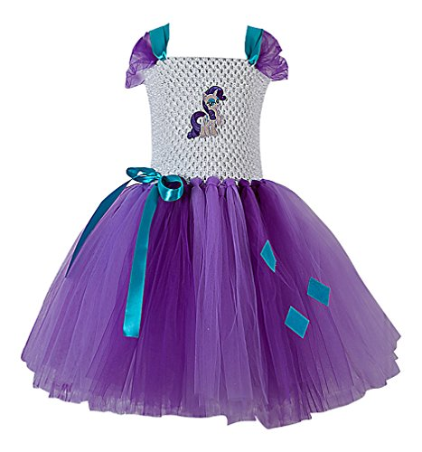 Sweety Girls' Various Colorful Designs My Little Pony Sleeveless Tutu Dresses, 5 (My Little Pony Tutu Dress)