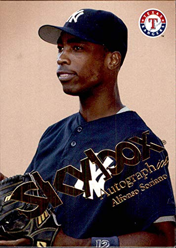 2004 SkyBox Autographics #44 Alfonso Soriano YANKEES RANGERS