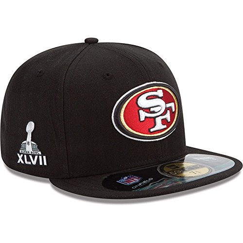 (Men's New Era San Francisco 49ers Super Bowl XLVII Onfield 59FIFTY? Football Structured Fitted Hat 7 1/2)