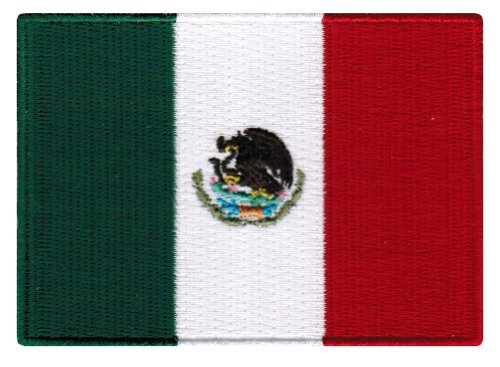Mexico Flag Embroidered Patch Mexican Iron-On National Emblem (Flag Eagle Embroidery)