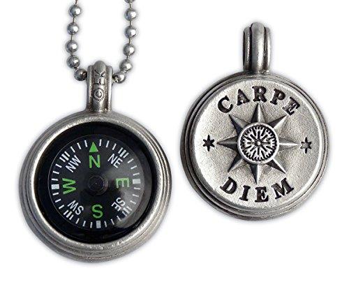 Carpe Diem Compass Pendant