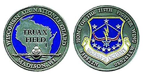 Truax Field 115th Fighter Wing Challenge Coin ()