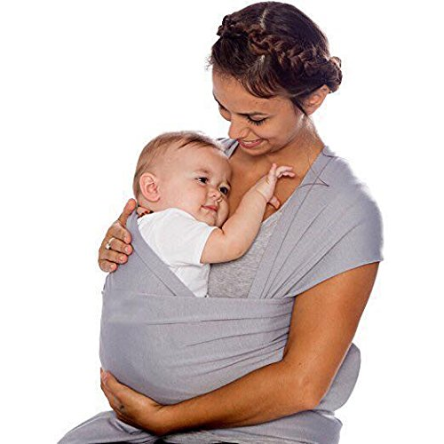 Baby Wrap, Willaire Baby Carrier Sling Natural Cotton Nursing Baby Holder for Newborns (Grey) For Sale