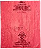 Medegen Medical Products F145 Red/Black LLDPE Biohazardous Waste Bags, 20 gal to 30 Capacity, 30'' x 36'' (Pack of 250)