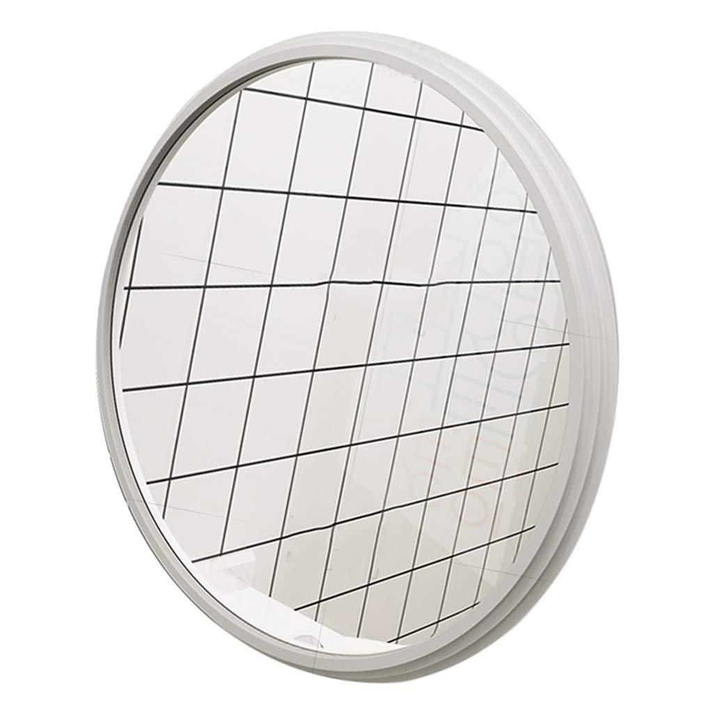 3 64.5cm Wall Mirror Black Circle Frame  Shaving Large Modern Floating Round Dressing Glass Panel   Living Room Vanity, Bedroom, or Bathroom   Hanging