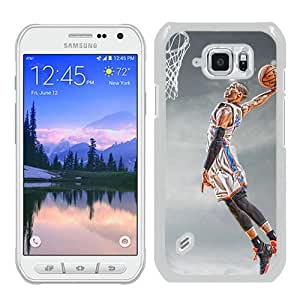Popular Samsung Galaxy S6 Active Case ,Fashionable And Unique Designed Case With Oklahoma City Thunder Russell Westbrook 6 White Samsung Galaxy S6 Active Cover High Quality Phone Case