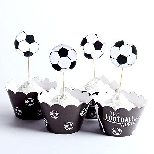 Astra Gourmet - Juego de cupcakes de fútbol, decoración de ...