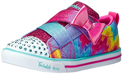 Skechers Kids Girls' Sparkle LIT-Rainbow Cutie Sneaker Lavender/Multi 11 Medium US Little Kid