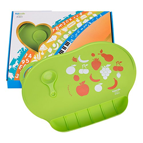 Baby Silicone Placemats, Kidsmile Waterproof Portable Roll ...