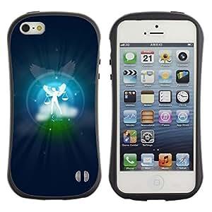 Suave TPU GEL Carcasa Funda Silicona Blando Estuche Caso de protección (para) Apple Iphone 5 / 5S / CECELL Phone case / / Libra Zodiac Sign /
