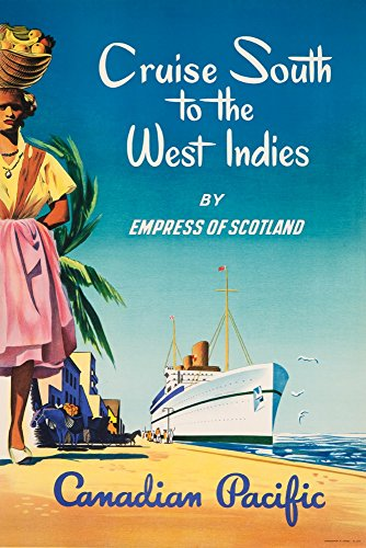Canadian Pacific - Cruise South to the West Indies Vintage Poster (36x54 Giclee Gallery Print, Wall Decor Travel Poster)