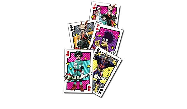 My Hero Academia Class 1A Group Group Hero Costume Spielkarten Manga Cartas de Poker Producto Original y con Licencia Oficial