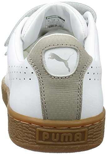 Classic Weiß vintage Strap 01 Khaki Erwachsene White Unisex Puma Puma Low Basket Top Citi CgqTnxtwp