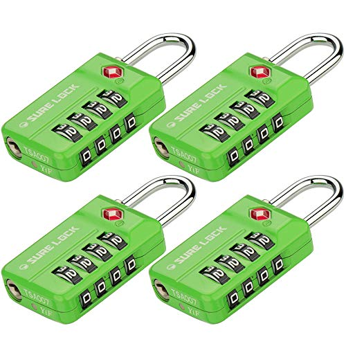 SURE LOCK TSA Compatible Travel Luggage Locks, Open Alert Indicator, Easy Read Dials?