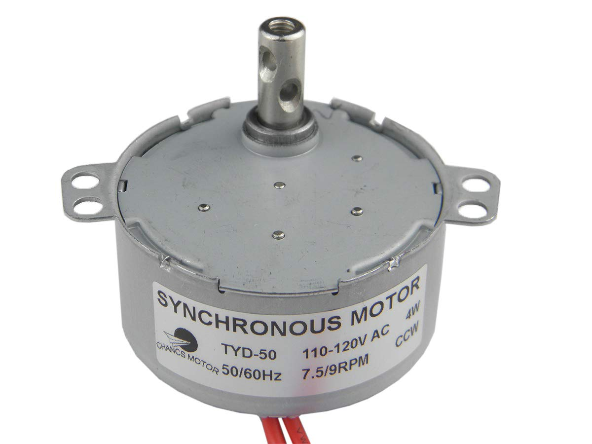 TYD50 Synchronous Motor 110V AC 7.5-9RPM CCW Fixed Rotation 4W Torque 6Kgf.cm CHANCS MOTOR