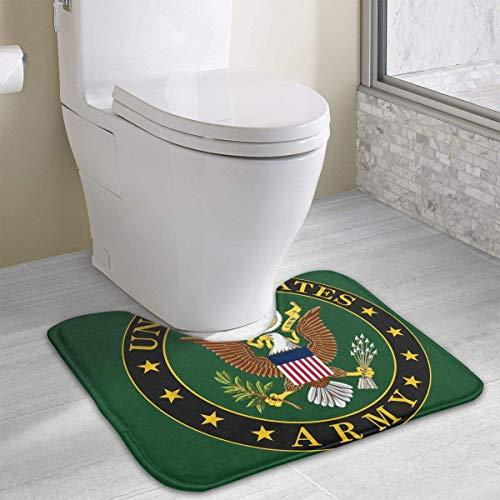casually US Army Funny Bath Mat Toilet Carpet Doormats Floor Mat for Bathroom Toilet 19.2″x15.7″