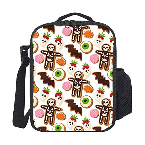 SARA NELL Kids Lunch Box Insulated Halloween Cookie Mummy Lunch Bag Large Lunch Boxes Cooler Meal Prep Lunch Tote With Shoulder Strap For Boys Girls Teens Women Adults]()
