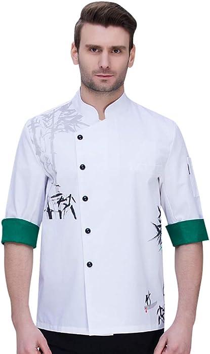 Dooxii Unisex Donna Uomo Autunno Manica Lunga Giacca da Chef Traspirante Ristorante  Occidentale Torta di Cottura Uniformi Divise da Cuoco 0e43dee6bdad